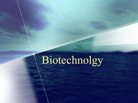 Biotechnolgy. Basic Molecular Biology Core of biotechnology.
