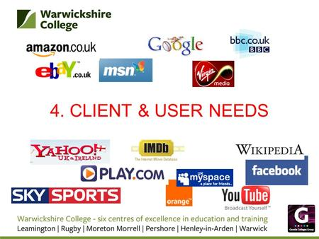 4. CLIENT & USER NEEDS.