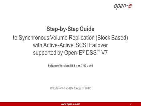 Software Version: DSS ver up01
