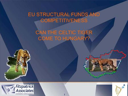 1 EU STRUCTURAL FUNDS AND COMPETITIVENESS CAN THE CELTIC TIGER COME TO HUNGARY?