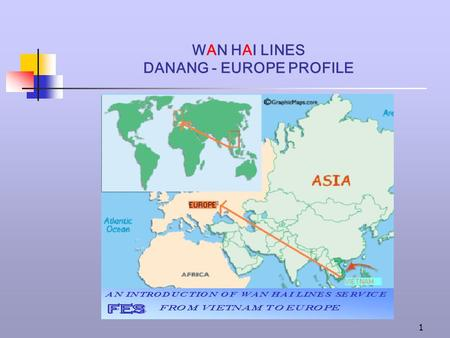 1 WAN HAI LINES DANANG - EUROPE PROFILE. 2 INTRODUCTION ******************** Grasping Vietnam s marked import- export growth rate in the first years of.