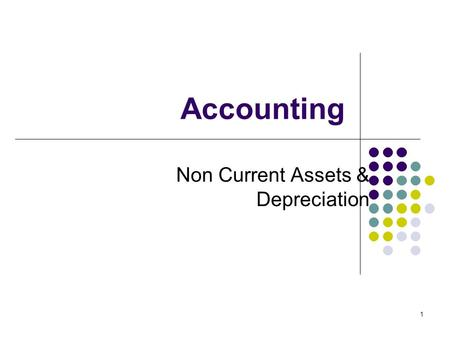 1 Accounting Non Current Assets & Depreciation. 2 Clive Vlieland-Boddy FCA FCCA MBA PhD EU 2009.