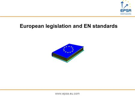 European legislation and EN standards