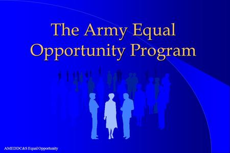 The Army Equal Opportunity Program