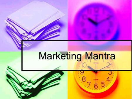 Marketing Mantra. Unit Summary As young market researchers, the students are challenged to work out a strategy to promote products facing decline in demand.