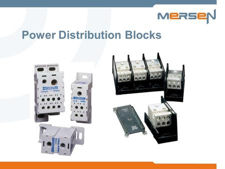 Power Distribution Blocks. 2 Typically, PDBs facilitate getting power from the Main (high ampacity) to the Load (low ampacity), while conforming to Codes.