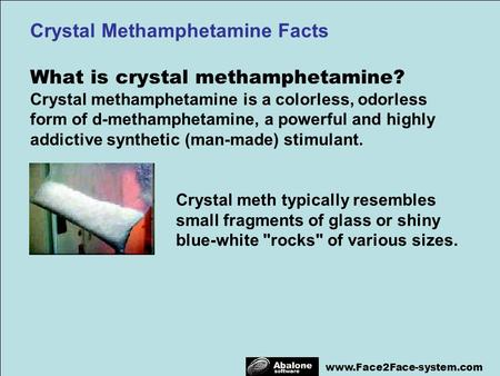 Crystal Methamphetamine Facts