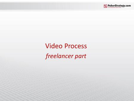 Video Process freelancer part. Procedure overview 1.Downloading & installing Camtasia 2.Configuring Camtasia 3.Recording the video 4.Voicing the video.