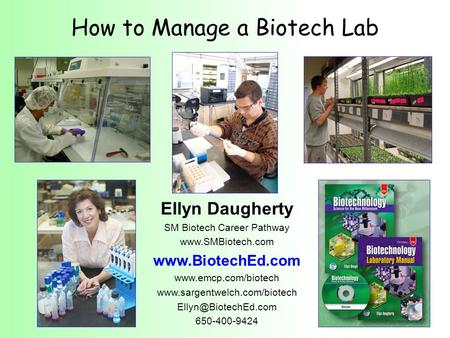 How to Manage a Biotech Lab