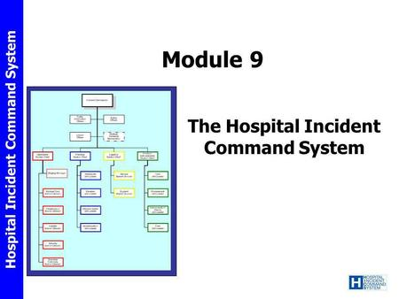 Hospital Incident Command System Module 9 The Hospital Incident Command System.
