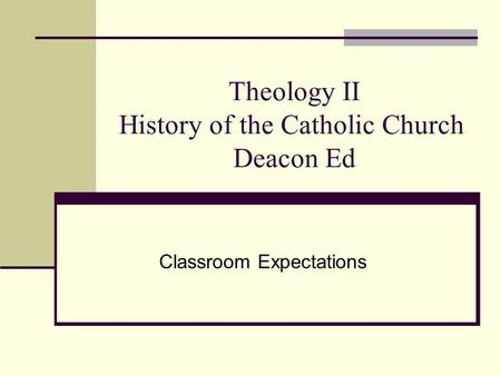 an introduction to the history of the catholic church Ecclesiology: the church many levels of bishops), catholic church we account for the relative absence of the miraculous gifts in the history of the church.