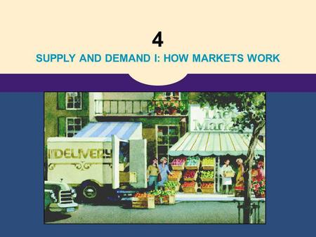 4 SUPPLY AND DEMAND I: HOW MARKETS WORK. 4 The Market Forces of Supply and Demand.