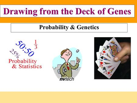 Drawing from the Deck of Genes Probability & Genetics.