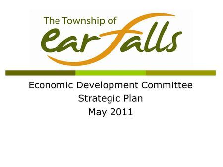 Economic Development Committee Strategic Plan May 2011.