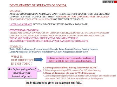 DEVELOPMENT OF SURFACES OF SOLIDS.