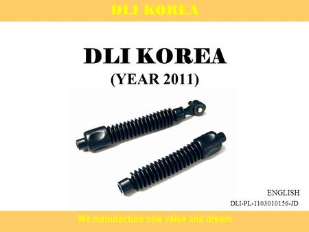 We manufacture new value and dream DLI KOREA (YEAR 2011) DLI KOREA ENGLISH DLI-PL-1103010156-JD.