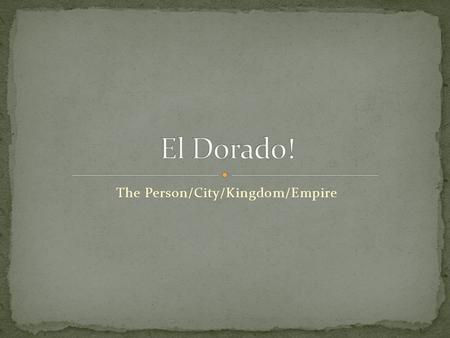 The Person/City/Kingdom/Empire. It is about the Lost City of Z and how Percy Harrison Fawcett tried to find it. But he disappeared with his son and his.