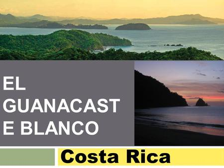 EL GUANACAST E BLANCO Costa Rica. Disclosure THE INFORMATION CONTAINED IN THIS DOCUMENT IS PROVIDED FOR INFORMATIONAL PURPOSES ONLY, IS NOT COMPREHENSIVE,