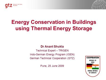 Energy Conservation in Buildings using Thermal Energy Storage