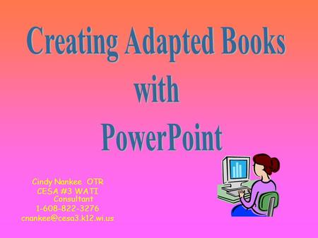 Creating Adapted Books