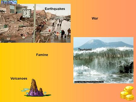 Earthquakes Tsunami War Famine Volcanoes What is Aid? AID is help that is given from one country to another - usually MEDCs help LEDCs. There are many.