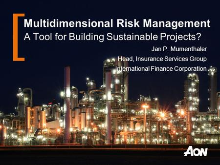 Multidimensional Risk Management