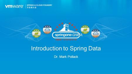 Introduction to Spring Data Dr. Mark Pollack. The current data landscape Project Goals Project Tour Agenda 2.