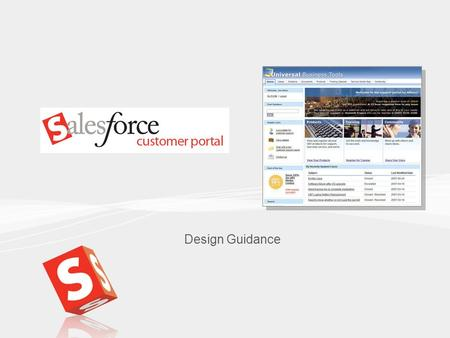 1 Design Guidance. 2 Contents Setting up the customer portal Implementation Checklist.