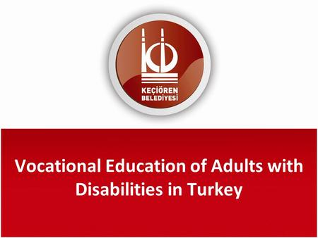 Vocational Education of Adults with Disabilities in Turkey.