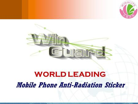 WORLD LEADING Mobile Phone Anti-Radiation Sticker.