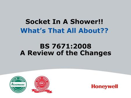 BS 7671:2008 A Review of the Changes Socket In A Shower!! Whats That All About??