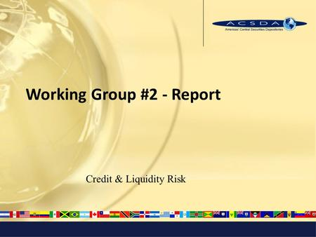 Working Group #2 - Report Credit & Liquidity Risk.