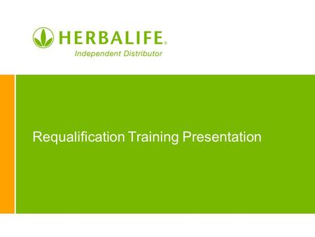 Requalification Training Presentation. 2 Keep Your Status! Youve Earned it!