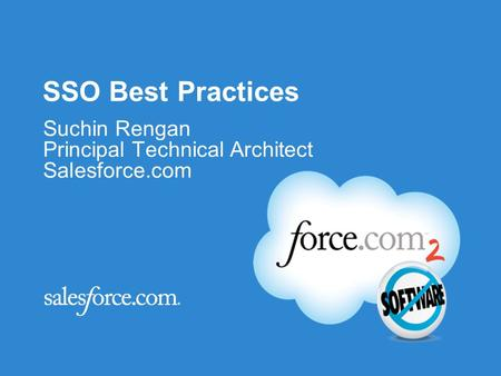 Suchin Rengan Principal Technical Architect Salesforce.com