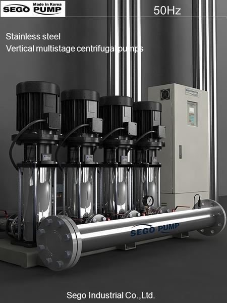 50Hz Vertical multistage centrifugal pumps Stainless steel Sego Industrial Co.,Ltd.