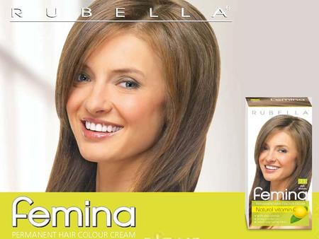 Femina is a permanent hair colour cream. It guarantees even, deep and long-lasting color and ensures 100% grey coverage. The colour cream has extremely.