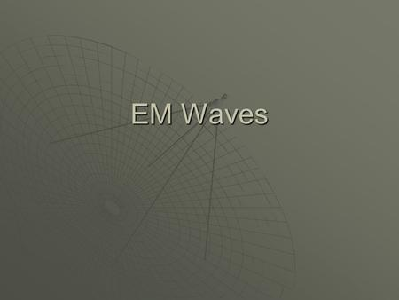 EM Waves The sound wave is moving through air and the water wave through water. Without matter to transfer the energy, they cannot move. Sound and Water.
