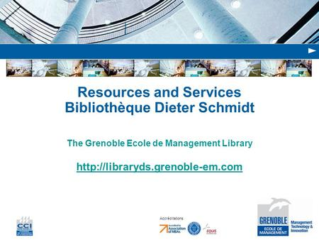 Resources and Services Bibliothèque Dieter Schmidt