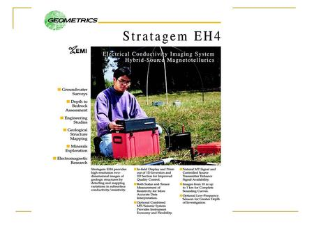 Stratagem EH4 Field Evaluation of Data Quality. Field techniques for determination of the source and nature of low-quality data acquisition with the Stratagem.