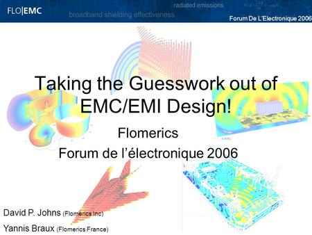 Taking the Guesswork out of EMC/EMI Design!