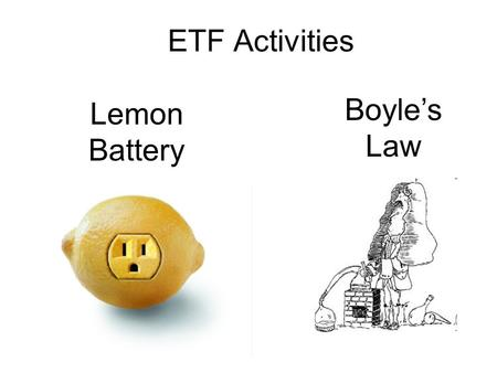 ETF Activities Lemon Battery Boyles Law. Lemon Battery.