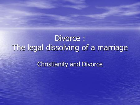 an analysis of the dissolution of marriage Definition of dissolution in 'the dissolution of their marriage 'the key to understanding the mechanism lies in the analysis of the geological and.