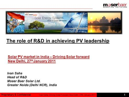 The role of R&D in achieving PV leadership