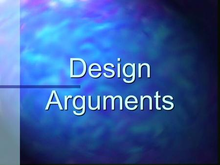 Design Arguments. Running Order 1. Aquinas 2. Paley 3. Swinburne 4. Criticisms and Counter-criticisms.