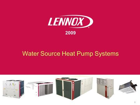 Water Source Heat Pump Systems