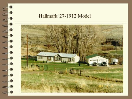 Hallmark 27-1912 Model. Model 27-1912 with Optional Prism Ceiling.
