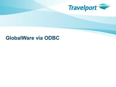 GlobalWare via ODBC. 2 Agendum >DBISQLC – the other white meat What, why, how >Some things you may not know about using ODBC and/or Access Linking tables.