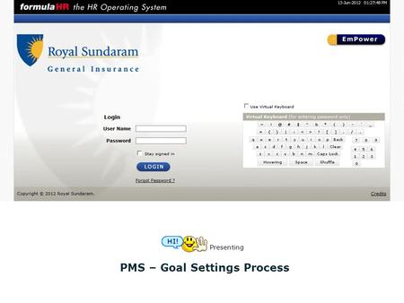 PMS – Goal Settings Process