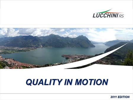 QUALITY IN MOTION 2011 EDITION Pagina 1 Pagina 1