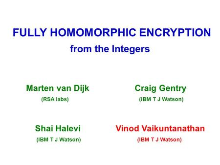 fully homomorphic encryption gentry thesis